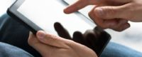 Achat de produits sur une tablette